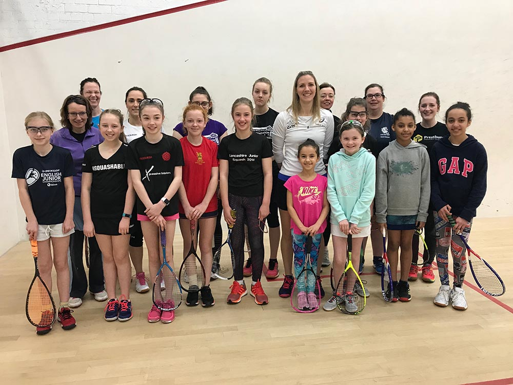 Squash Girls can with Laura Masarro